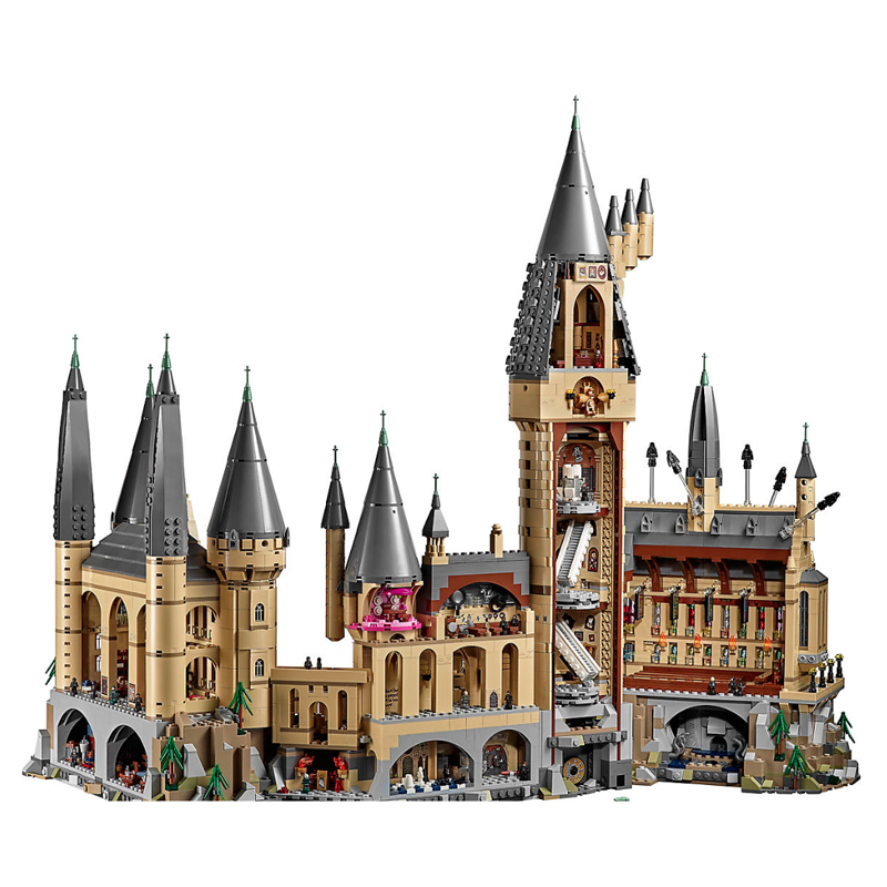 Moive Series Potter Hogwarts Castle Model Building Block Bricks Toys 522Pcs Compatible With Legoings 71043 movie series king castle battle siege set model building block bricks toys compatible legoings city castle 7094