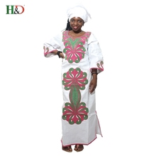 2017 African Riche Bazin Dresses For WomenFashion Designs Bazin Riche Lady's traditional Maxi Dress Fabric Dashiki Bold lines(China)