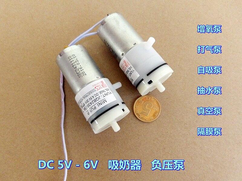 All Nwe 5V-6VDC Miniature Vacuum Pump Mini Air Pump 100KPa 370 Motor air pump