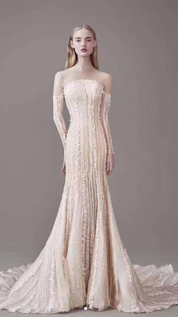1 yard Elfenbein weißen spitzen stoff für brautkleid, hochzeitskleid ...