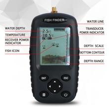 Goture Russian / English Menu Wireless Fish Finder 0.6-40m Fishing Depth Sounder Sonar Echo-sounder Fishfinder Fishing Tackle