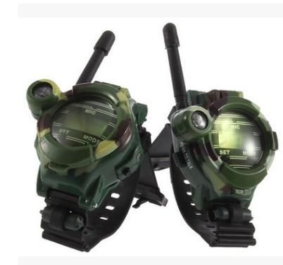 1 Pair Toy Walkie Talkies Watches Walkie Talkie 7 In 1 Children Watch Radio Outdoor Interphone Toy Gift For Chirlden 2 Pcs New