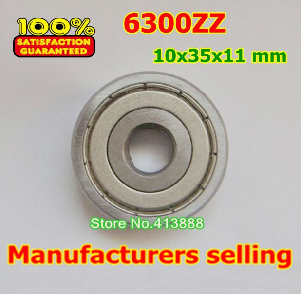 Прямая с фабрики 6300 6300ZZ 6300-2Z 6300Z 80300 10*35*11 мм высокое качество глубокий шаровой подшипник 10 шт./партия