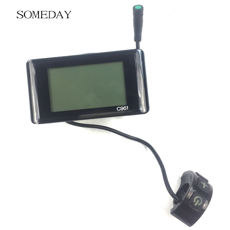 Bafang DP C01.UART display C961 bicycle for 8fun mid drive motor BBS01 BBS02 BBSHD Bafang C961 LCD display|Electric Bicycle Accessories| |  - title=