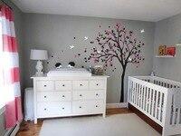 Morden Style Baby Kids Room Art Decorative Vinyl Nursery Tree Wall Sticker Falling Blossoms Cute Hedgehods