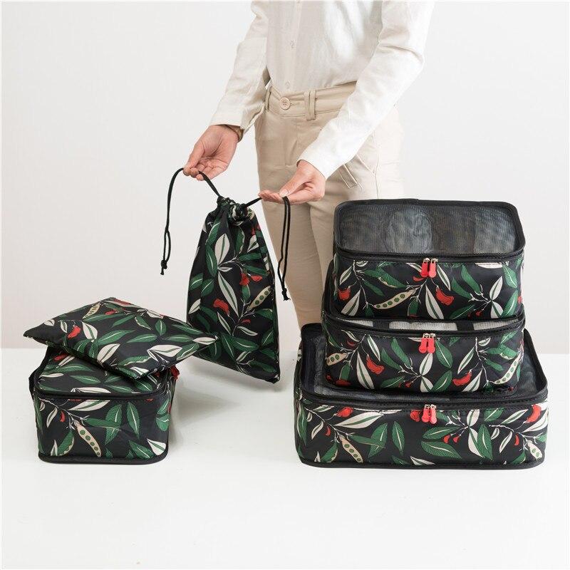 LIYIMENG 6 pcs/ensemble Voyage sous-vêtements organisateur Vêtements Emballage Boîte pour Soutien-Gorge Cosmétique maquillage Waterproof sac de rangement pour La Maison Cercueil