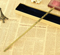 Nueva Calidad de Harry Potter Luna Lovegood Varita Mágica Deluxe Metal Core COS de Varitas Mágicas con Caja de Regalo de Embalaje