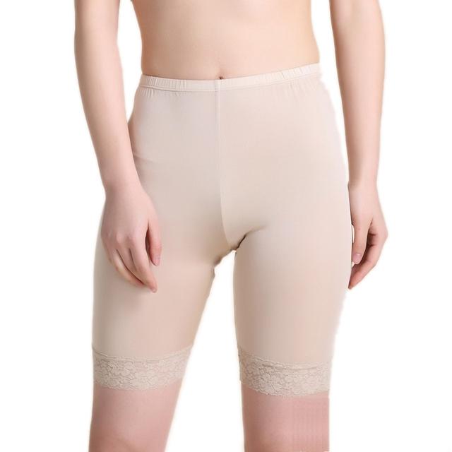 100% de Seda del Cordón de Las Mujeres Los Pantalones Cortos de Seguridad Calzoncillos Boxers Briefs Sexy Femenina Femme Mujeres Salvajes Bragas Bragas Mujer