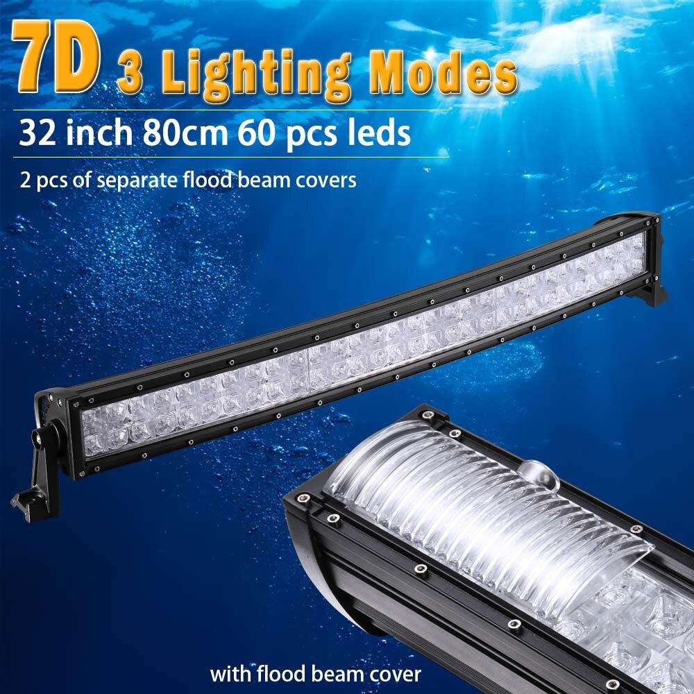 32 pouce 7D Barre LED Incurvée avec DRL A MENÉ La Barre Légère de Travail pour le Tracteur OffRoad 4WD 4x4 Camion SUV ATV 12 v 24 v A MENÉ le Guide Optique