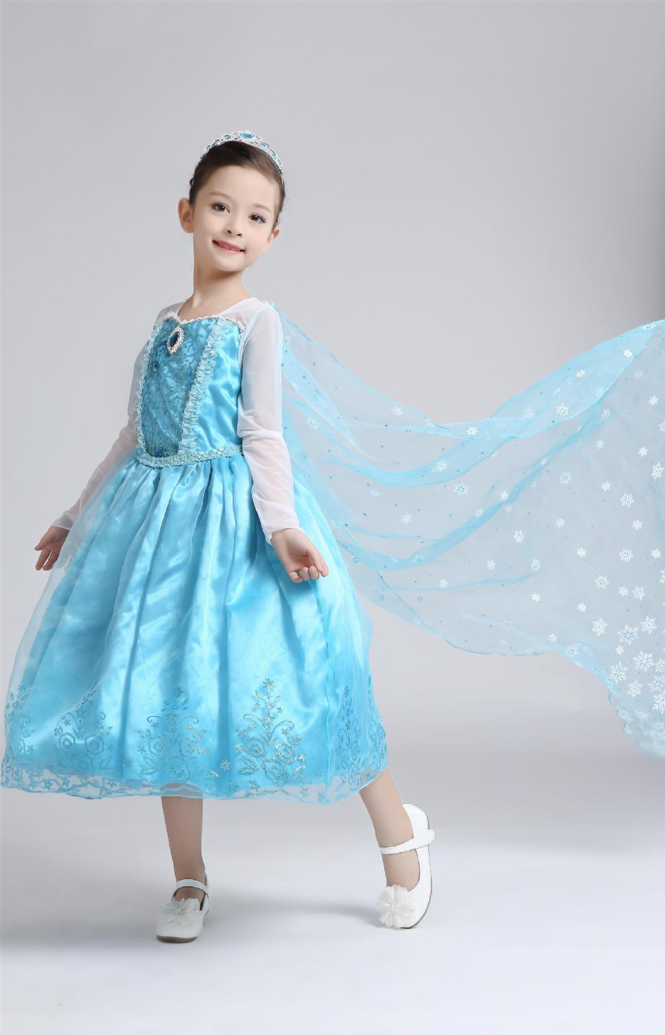 Free Shipping DHL 10pcs Wholesale Ice Princess Dresses Girl Party ...