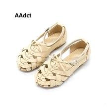 2017 літо Принцеса дівчатка сандалі взуті в Рим дитячі сандалики плоскі сандалі дитячі пляжні черевики