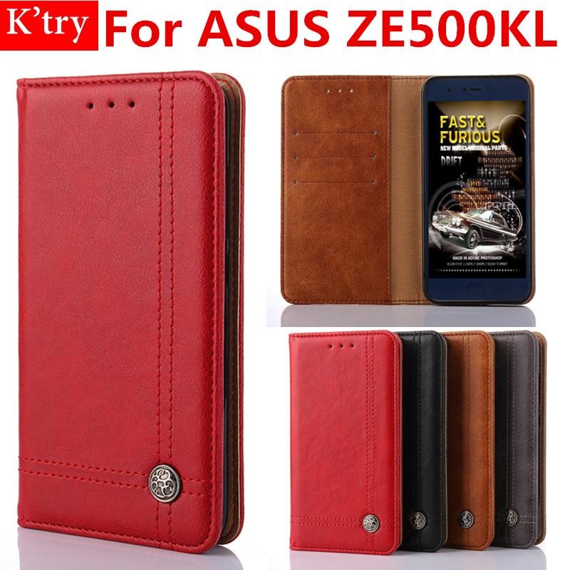 Business Book Style Card Holder Wallet Case For ASUS ZenFone 2 laser ZE500KL Mobile Phone Bag Fundas