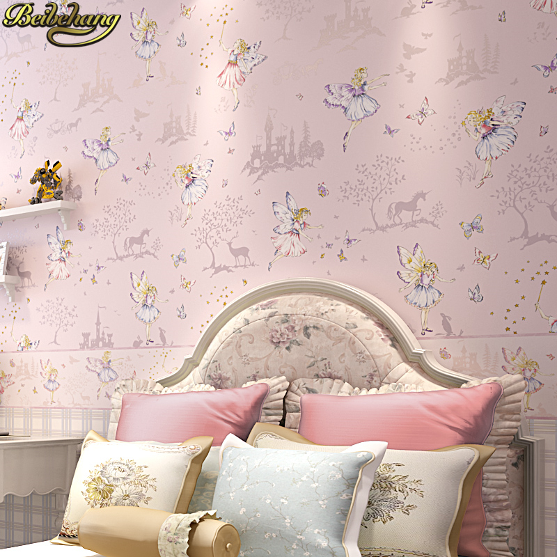 beibehang cartoon Children's room wall papers home decor living room girls boys bedroom non-woven wallpaper for kids room roll room decor cartoon height measure tree wall sticker