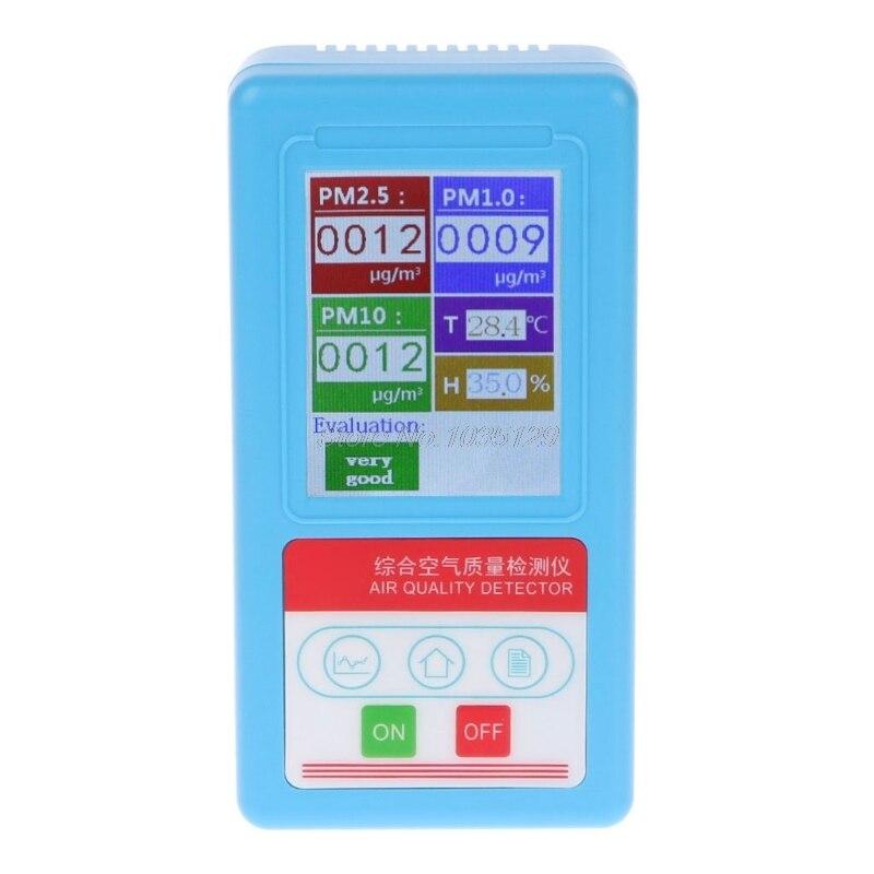PM1.0 PM2.5 PM10 газоанализатор 9 видов детектор частиц с Температура измеритель влажности детектор газа Термометр-Гигрометр SQJ