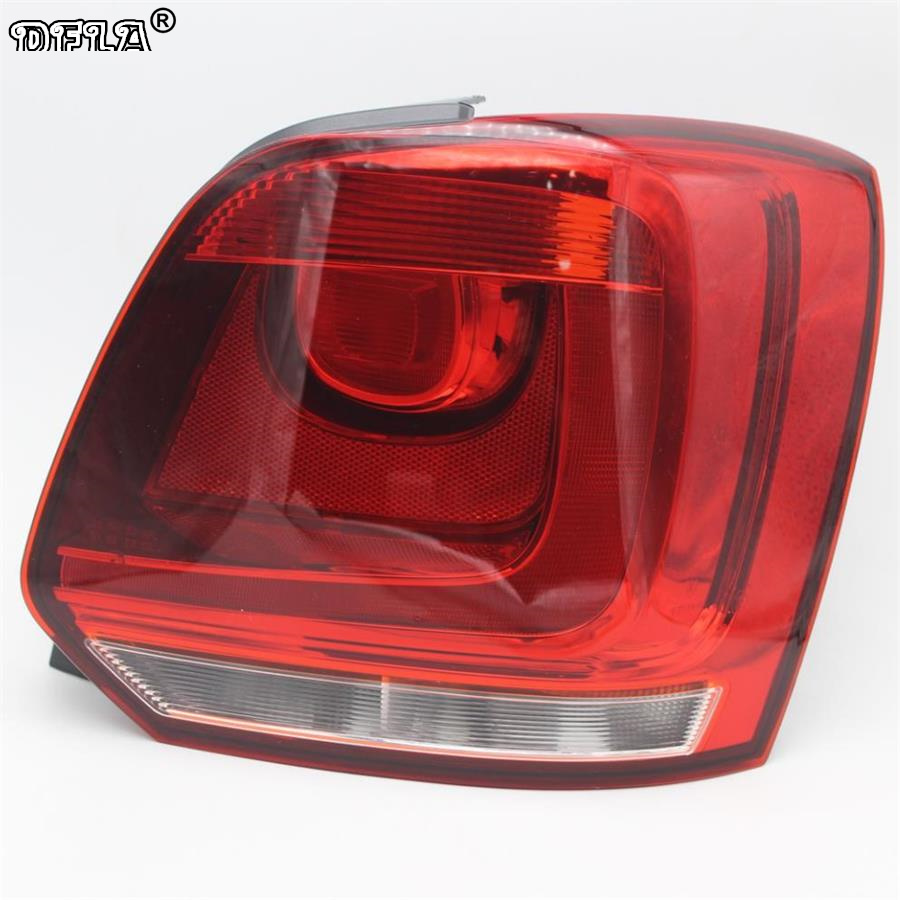 Right Side Car Rear light For VW Polo 6R Hatchback 2009 2010 2011 2012 2013 2014 New Rear Light Tail Light car auto accessories rear trunk trim tail door trim for subaru xv 2009 2010 2011 2012 2013 2014 abs chrome 1pc per set