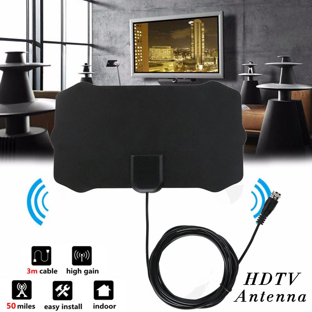80 Miles 1080P Indoor Digital TV Antenna Signal Receiver Amplifier TV Radius Surf Fox Antena