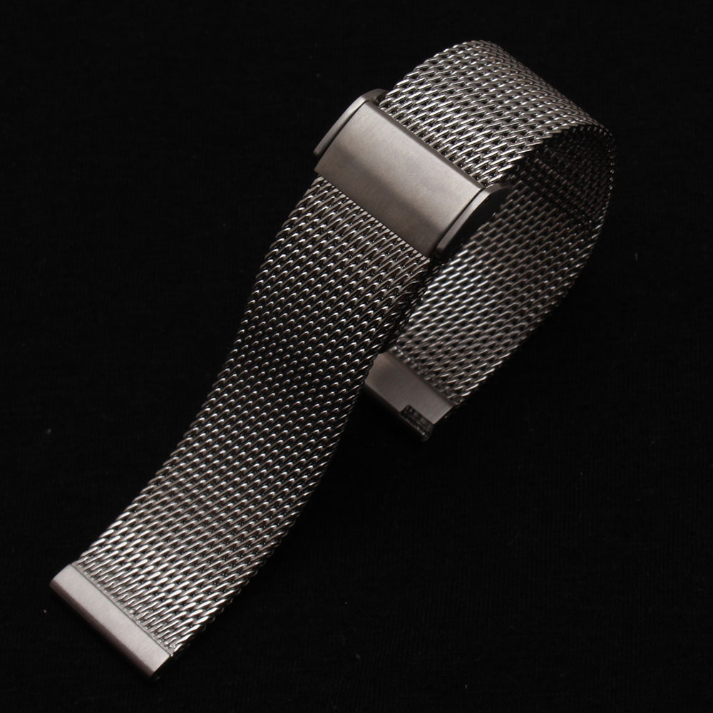 Watchbands High Quality Watchband Silver 18mm 20mm 21mm 22mm Watch mens watches Bracelet metal folding new buckle promotion new