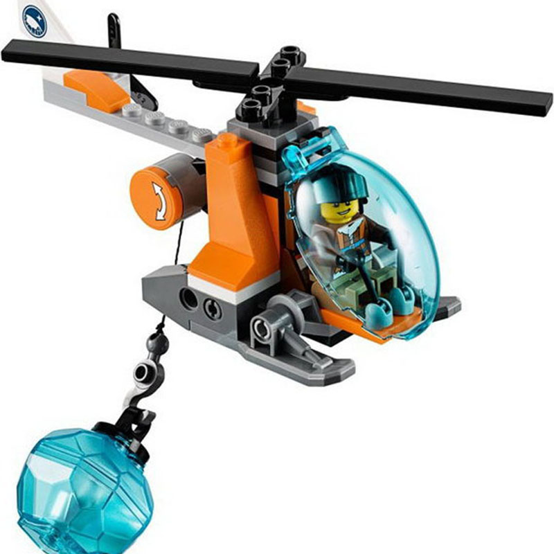 Compatible Legoe giftse BL10443 Arctic Snowmobile Camp Ship Helicopter Urban Police City Building Blocks Bricks Toys цена