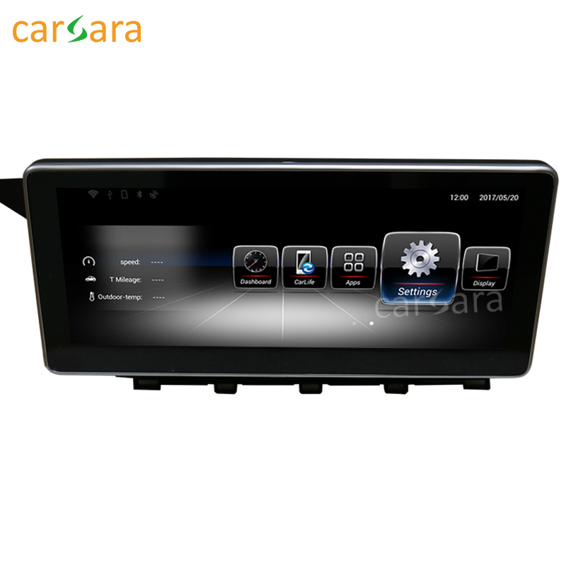 carsara 10.25 inch touch screen 1280*480 Android GPS Navigation radio stereo dash multimedia player for Benz GLK 2008 to 2012 22pcs sand