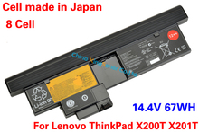 14.4V 67WH Japanese Cell Original New Laptop Battery for Lenovo ThinkPad X200T X201T 42T4658 42T4565 8CELLS