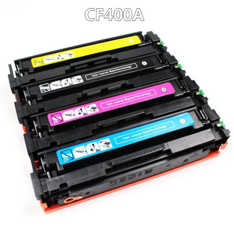 CF400A CF401A 402 403A 201A Cartouche De Toner Couleur Compatible Pour HP Color LaserJet Pro M252n M252dn MFP M274n M277dw M277n
