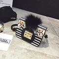 Diseño de moda Pequeños Monstruos Modelo Bolsa de Embrague Bolsos de Las Mujeres de Ojos de Mini Mensajero de LA PU Bolsa de Cuero