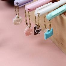 4pcs/lot Creative Dessert pendant gel pen Kawaii students Writing Neutral pens Caneta Office School Stationery Supplies цена