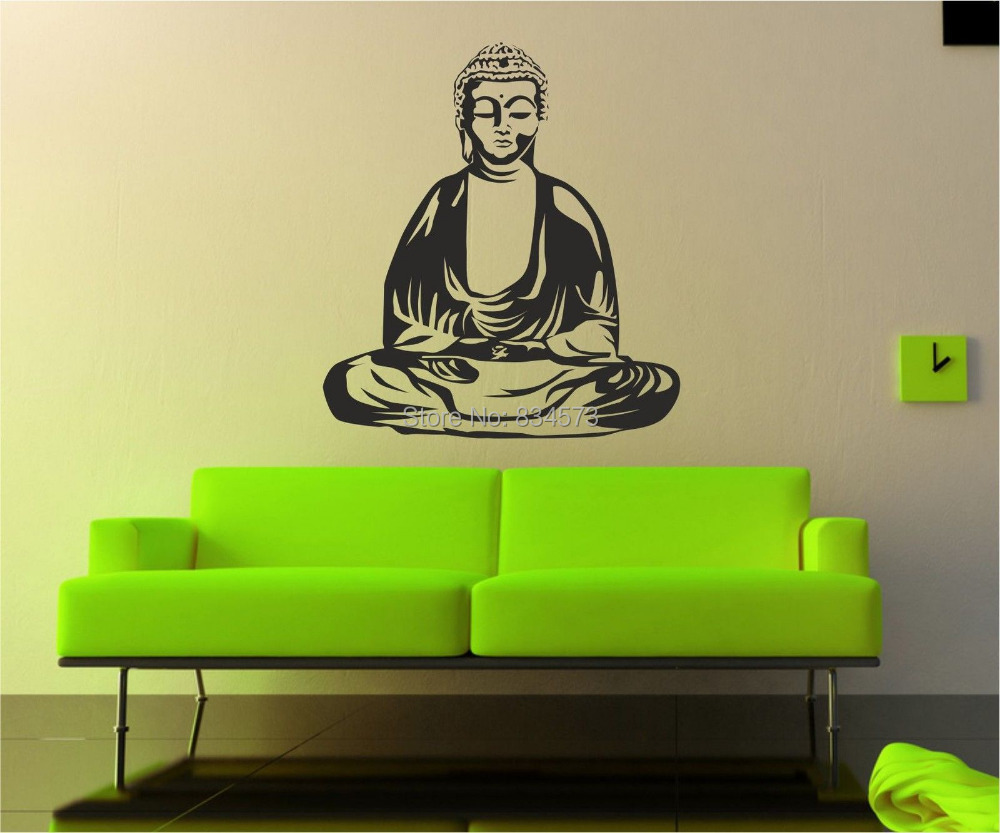 Online buy wholesale buddha wall murals from china buddha for Buddha wall mural