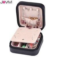 Jovivi Mini PU Leather Szkatułka Na Futerał Podróżny Kreatywny Biżuteria przechowywania Pole Bilansowej Pair Wieża Eiffla Czarno Białe Prezenty Dla dziewczyna