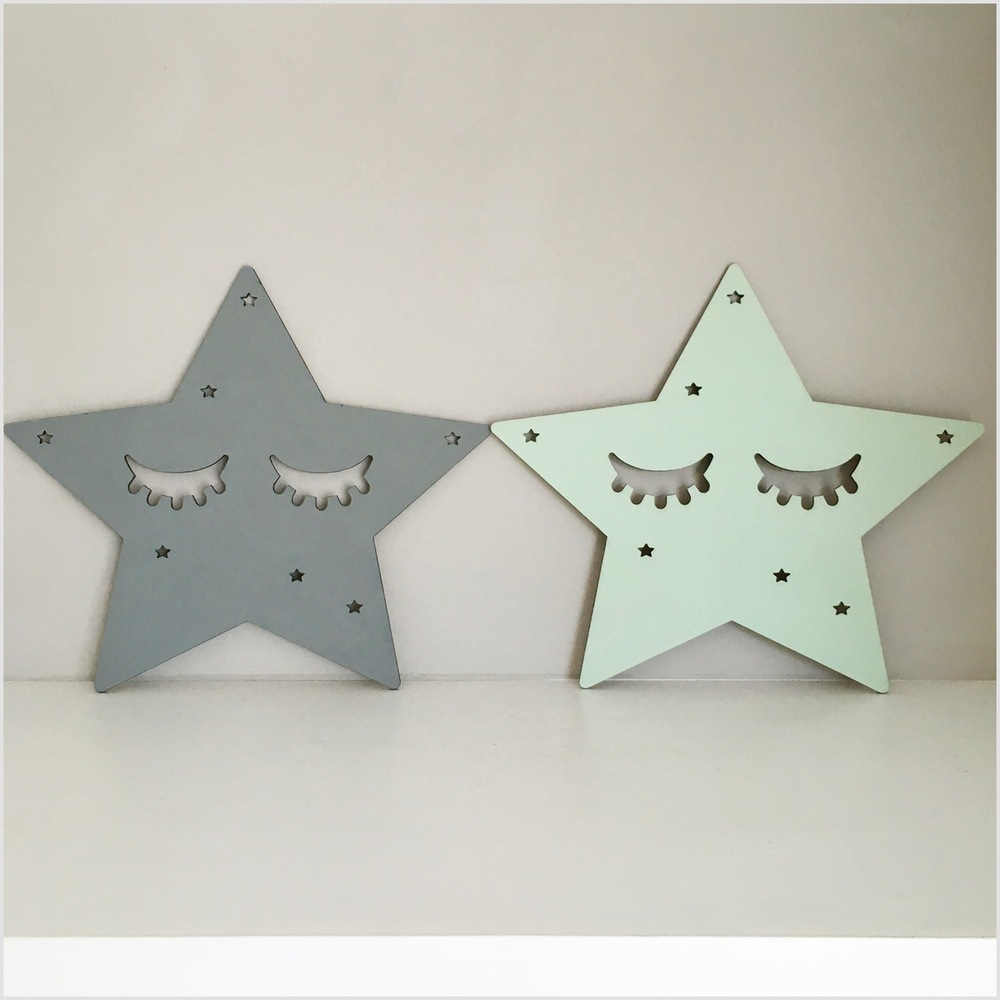 Cute nordic star sleeping eyes wall stickers wall hanging wooden cute nordic star sleeping eyes wall stickers wall hanging wooden eyelash decorative items for baby kids room wall decorations in underwear from mother amipublicfo Gallery