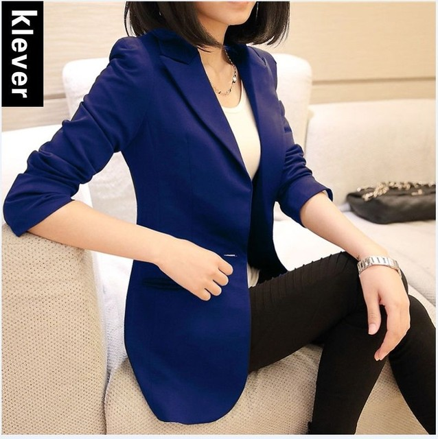 2018 autumn winter new stylish blazers for women cotton jackets lined with striped formal suit outerwear single button Jacket 2