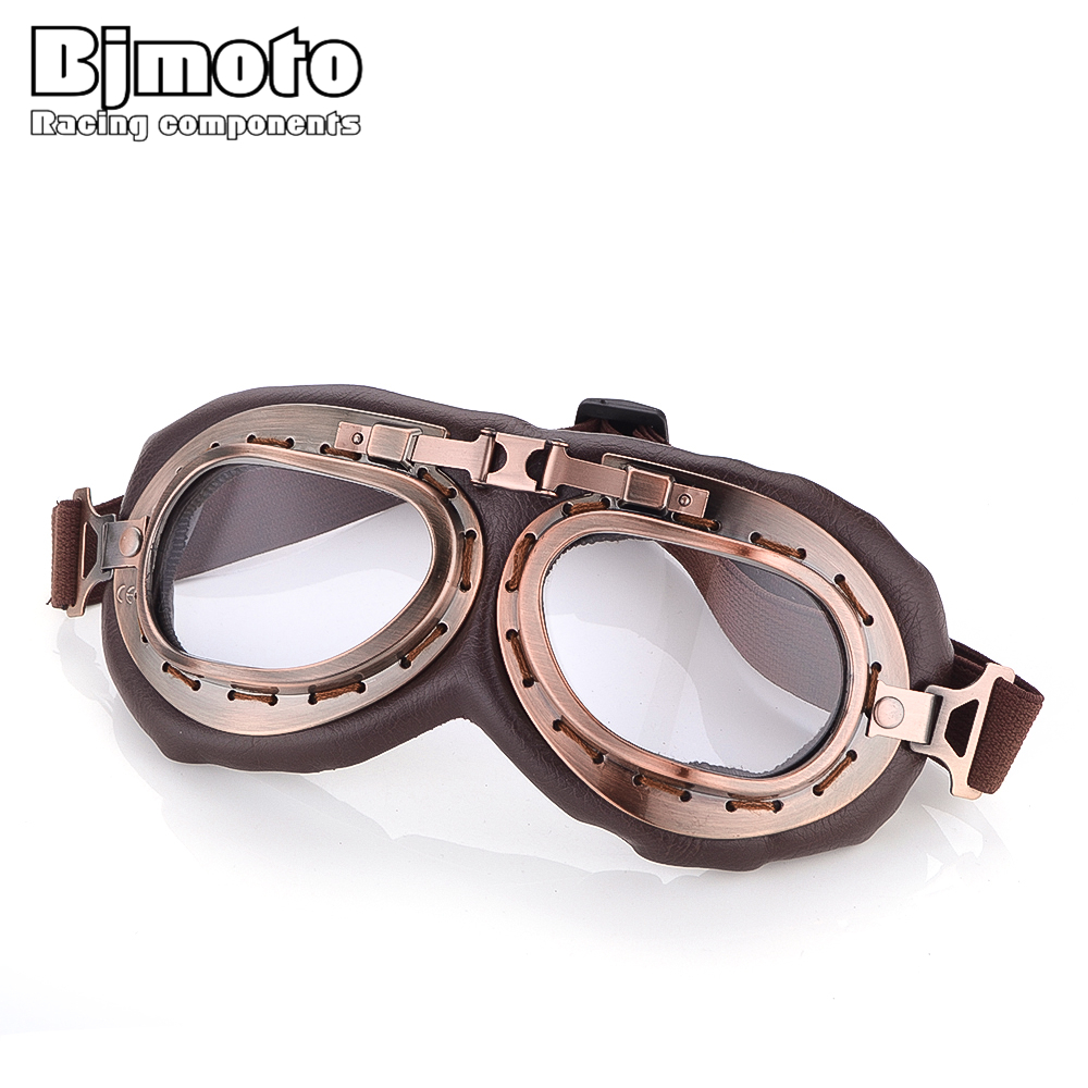 Detail Feedback Questions about BJMOTO Retro Motorcycle Goggles Glasses  Lunettes Moto Vintage Half Helmet Goggles for Scooter Biker Aviator Pilot  Cruiser on ... 866edac09a97
