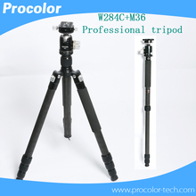 Good quality Professional Travel tripod monopod Compact Aluminum camera stand Panoramic Ball Head for DSLR Camera