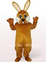 Hot sale! mascot costumes Brown Bunny for sale Animal carnival costume Halloween Dress kids party free shipping