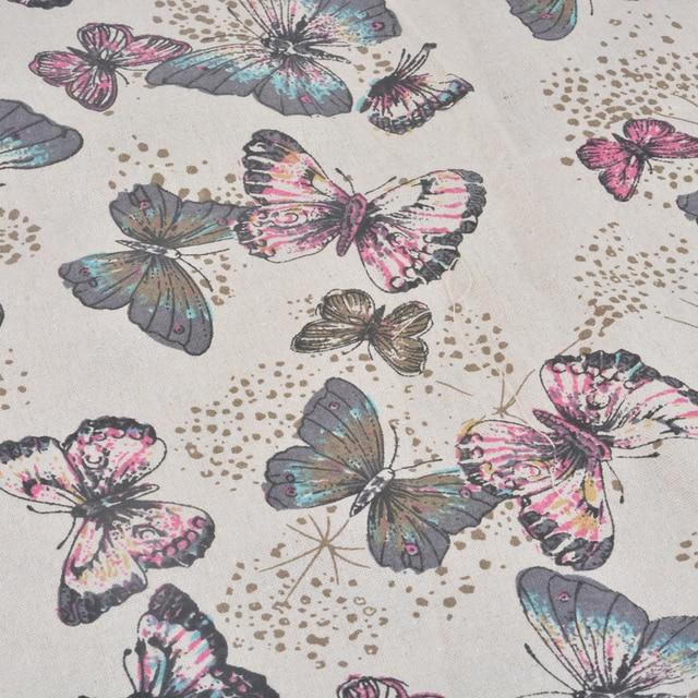 98*48 cm Leinen Baumwolle Stoff Twill Schmetterling Stoff Für ...