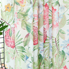 Custom Curtains for Bedroom Living Room Fragmentary Flowers Fresh Plants Nordic Rainforest Style Printed Pastoral Curtains uhommi flamingos rainforest plants printed skidproof floor mat