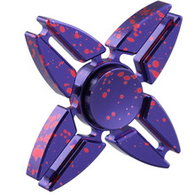 Four Corners Crab Star Rotation Long Tri-Spinner Fidget Metal EDC Spinner Fidget Spinner Hand For Kids Adults Anti Stress Toy