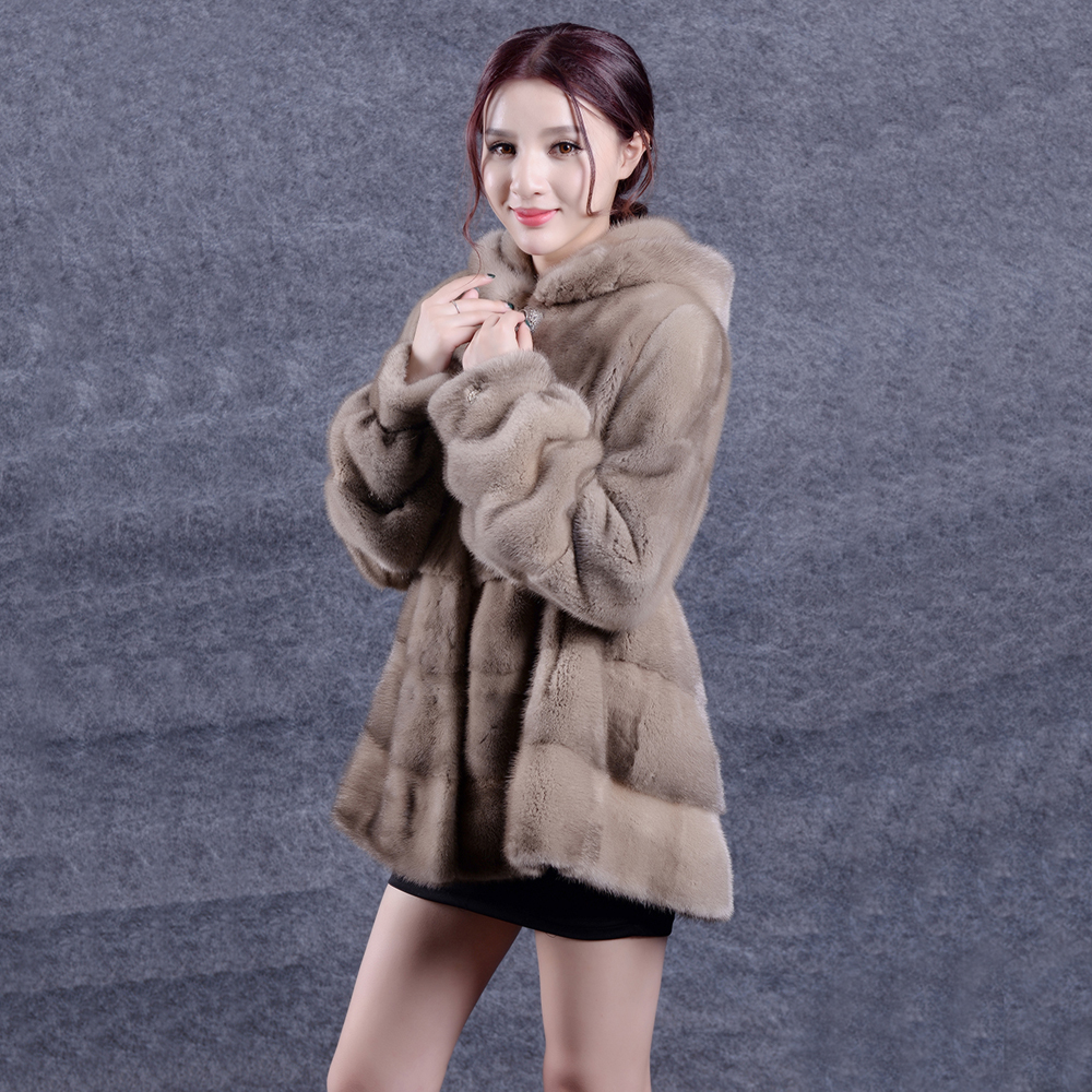 Femmes Qualité Manteau Vison Overcoat100Réel Color Hiver Mode Capot Jacketcoat Haute Fourrure De Lady Manteaux 9eWIE2DHY