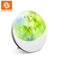 CrazyCube F1 Portable Bluetooth Colorful LED Speaker better than jbl pulse with 5W loudspeaker