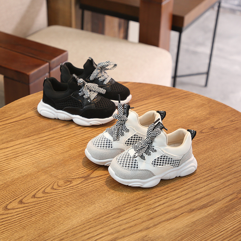 Kids Shoes For Boys Girl Children Casual Sneakers Air Mesh Breathable Soft shoes Knitted Fabric Breathable Running Shoes