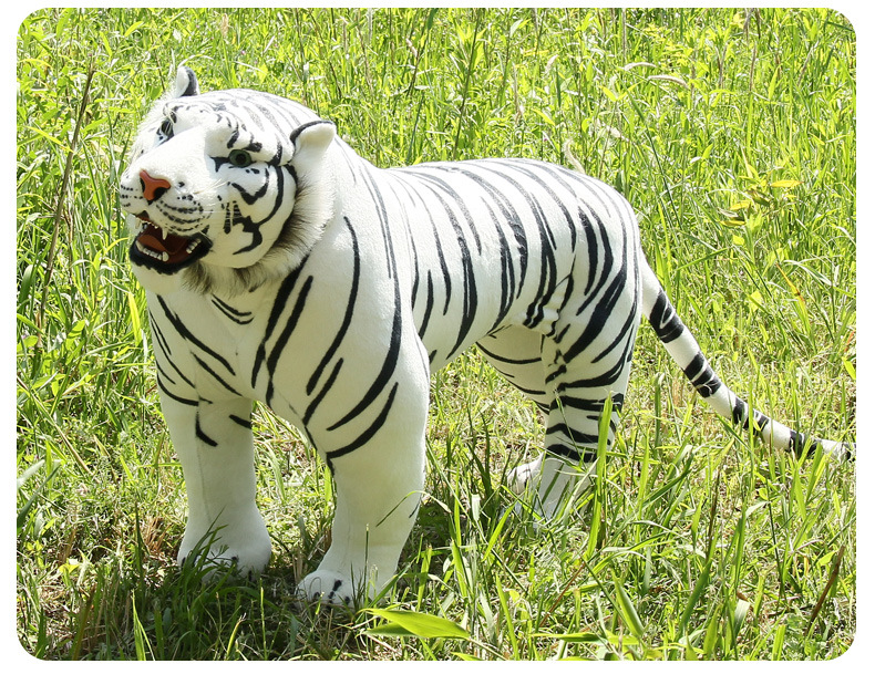 new arrival large 110x75cm white tiger plush toy simulation tiger party decoration, birthday gift w1741 2015 new hot high grade super realistic simulation tiger plush toys household decoration children s pillow a birthday present