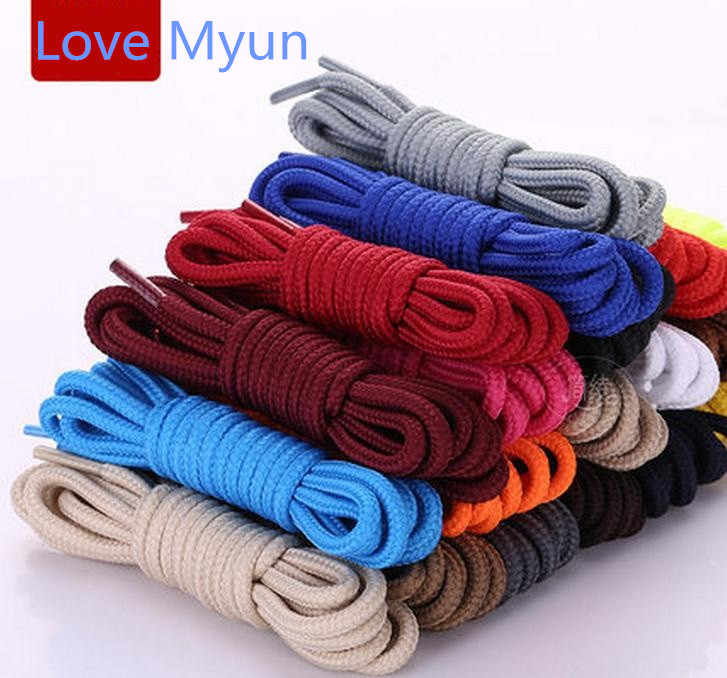 factory outlet biggest discount large discount Round shoelaces unisex fashion casual sneaker canvas leather shoe laces  high quality red black yellow white blue brown shoelaces