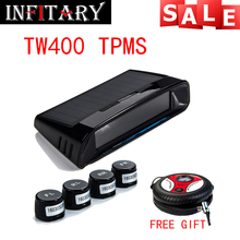 TW400 Wireless tire pressure monitoring tpms system monitor 4 external sensors with free gift Automotive inflatable pump