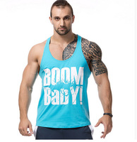 2015 Fashion New Summer Style Gym Plain Tank Top Mens Bodybuilding Stringer Blank Vest Fitness Shirt