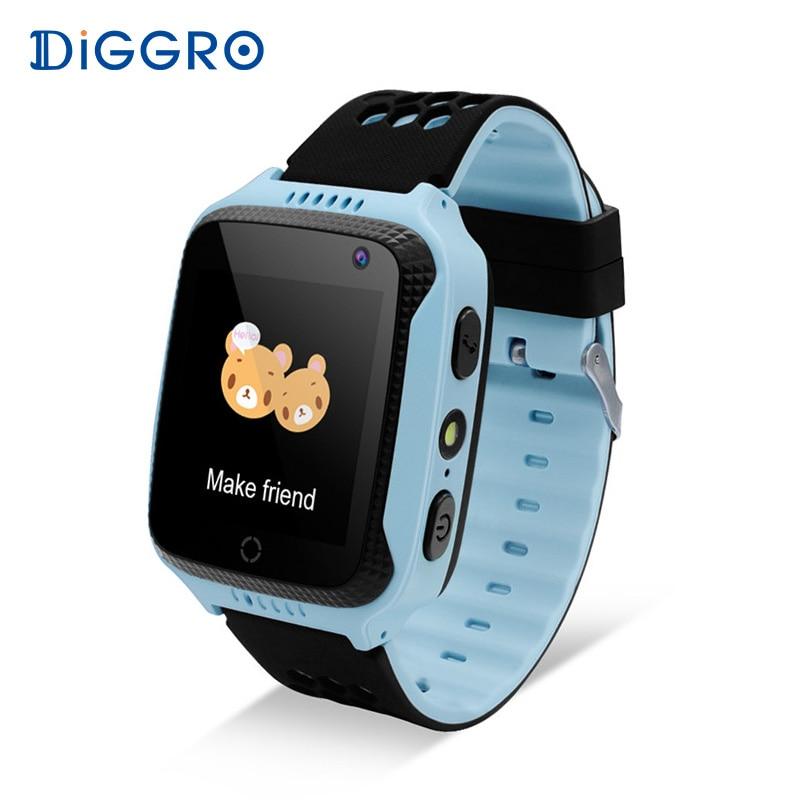 Diggro M01 2 г малыш Смарт часы 1.44 дюймов GPS трекер Камера sim-карты анти-потерянный SOS Детская безопасность здоровья помощник для iOS и Android