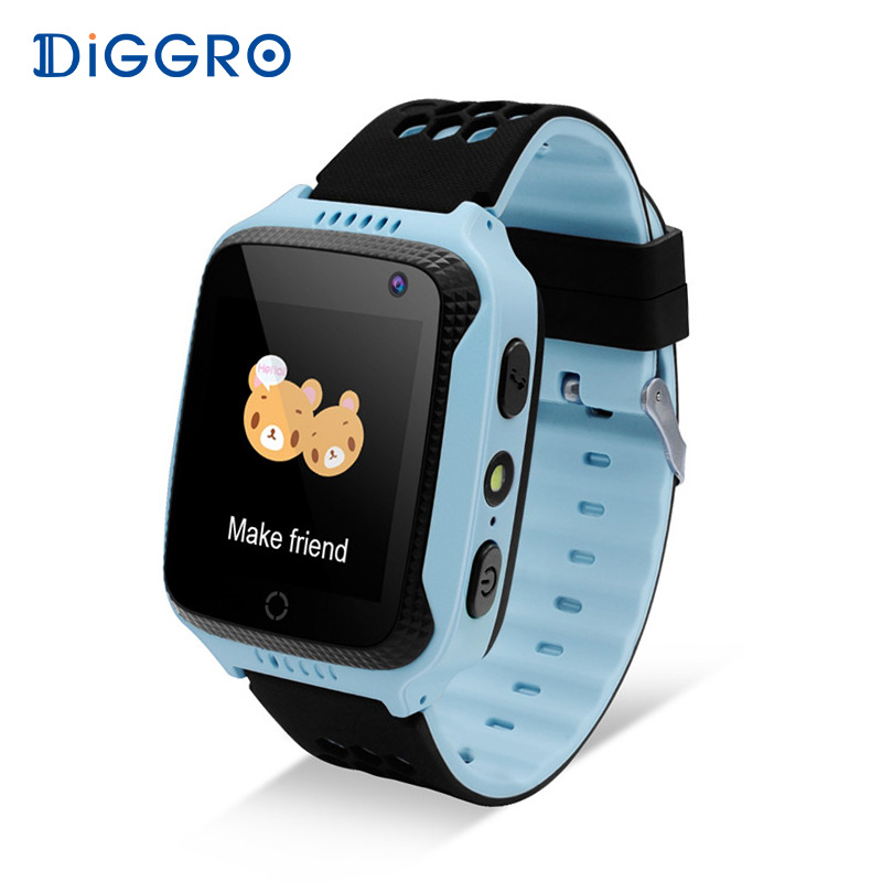Diggro M01 2G Kid Smart Watch 1.44 inch GPS Tracker Camera SIM Card Anti-lost SOS Children Safety Health Helper for Android IOS