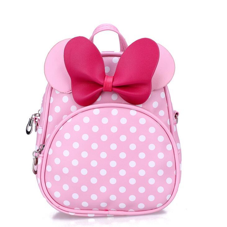 Children Bags For Little Girls Kindergarten Children School Bags Cartoon Bow Tie Baby Girl School Backpack Children Backpack