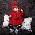 Doce Bonito Meninas Do Bebê Com Capuz Camisolas de Roupas Infantis Meninas