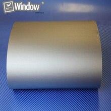 "Matt Black Car Wrap Film 0.3x1.52m Silver Matte Vinyl Wrap Film Sticker ""Air Free""-3Mil"