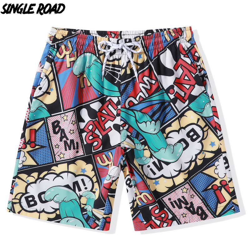SingleRoad Summer Beach Board Shorts Men 2019 New Swimwear Elastic Waist Quick Dry Swim Trunks Swimming Couple Wear Shorts Women
